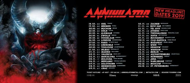 Annihilator: A Tour For The Demented 2018