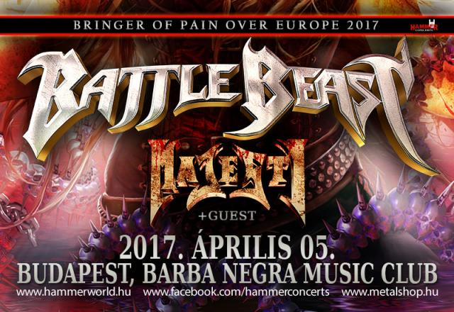 Battle Beast European Tour 2017