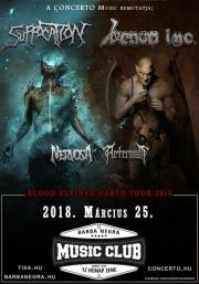 VENOM INC., Suffocation, Nervosa, Aeternam