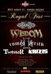 Wisdom h�rlev�l - Szombaton Royal Fest, k�sz�l� �j lemez, Powerwolf turn�