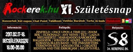 XI. Rockerek.hu Születésnap - S8 Underground Club (2017.02.17-18.)