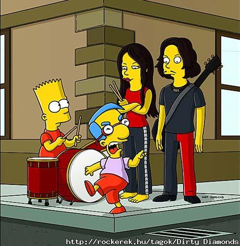 White stripes simpson XD